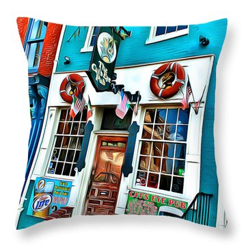The Cat's Eye Pub Throw Pillow