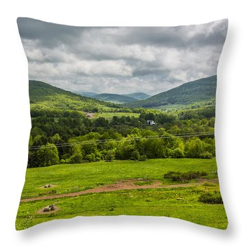 Throw Pillow featuring the photograph The Catskill Mountains by Paula Porterfield-Izzo