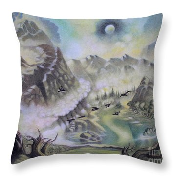 The Cauldron Throw Pillow