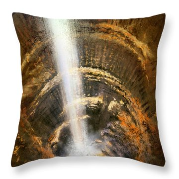 The Cavern Throw Pillow by Andrew King
