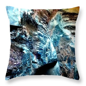 The Caves Of Q'th Throw Pillow