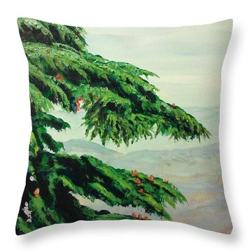 The Cedar Tree Throw Pillow