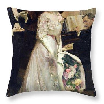 The Celebrated Throw Pillow by Joseph Marius Avy