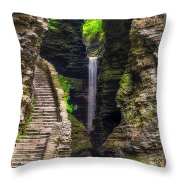 The Central Cascade Throw Pillow