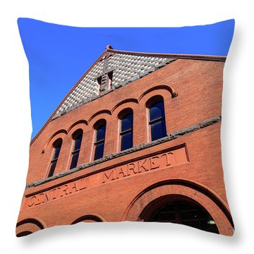 The Central Market Throw Pillow