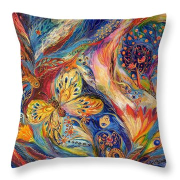 The Chagall Dreams Throw Pillow by Elena Kotliarker