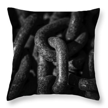 Throw Pillow featuring the photograph The Chains That Bind Us by Jason Moynihan