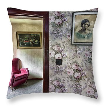 Throw Pillow featuring the photograph The Chair Of Lost Opportunities by Dirk Ercken