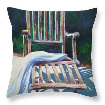 The Chair Throw Pillow by Shannon Grissom