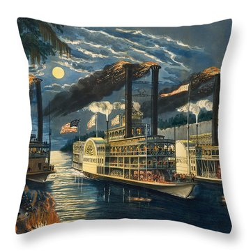 The Champions Of The Mississippi  Throw Pillow