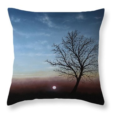 The Changing Season Throw Pillow by Paul Newcastle