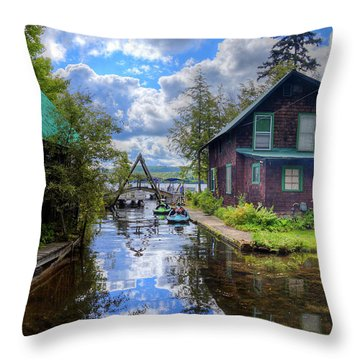 Throw Pillow featuring the photograph The Channel At Palmer Point by David Patterson