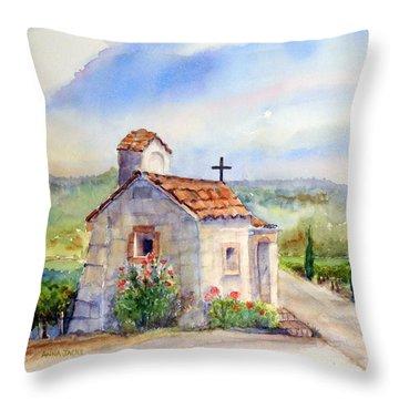 The Chapel - Castello Di Amorosa Throw Pillow
