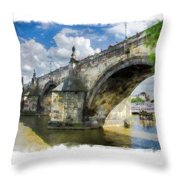 The Charles Bridge - Prague Throw Pillow