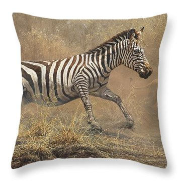 Throw Pillow featuring the painting The Chase by Alan M Hunt