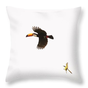 Throw Pillow featuring the photograph The Chase by Alex Lapidus