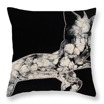 The Chase Bw Throw Pillow