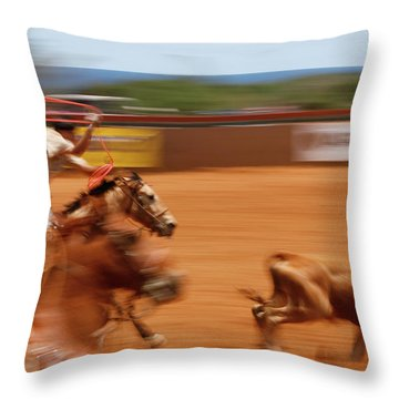 Throw Pillow featuring the photograph The Chase by Roger Mullenhour