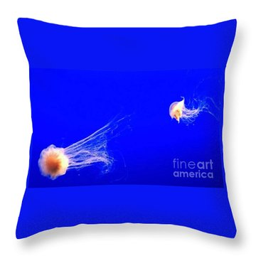Throw Pillow featuring the photograph The Chase by Vanessa Palomino