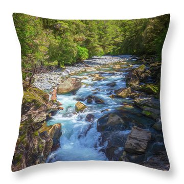 The Chasm Southland New Zealand Throw Pillow