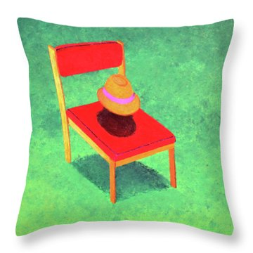 The Chat Throw Pillow by Thomas Blood