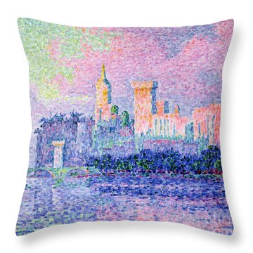 The Chateau Des Papes Throw Pillow by Paul Signac