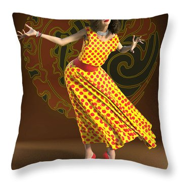 The Cheerful Marcela Throw Pillow