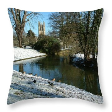 The Cherwell. Throw Pillow by Mike Lester