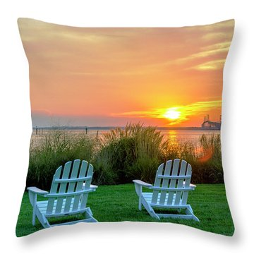 The Chesapeake Throw Pillow by Brian Wallace
