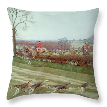 The Cheshire Away From Tattenhall Throw Pillow by Cecil Charles Windsor Aldin