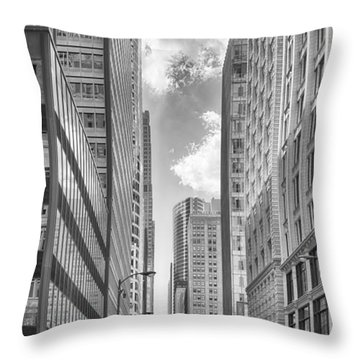 Throw Pillow featuring the photograph The Chicago Loop by Howard Salmon
