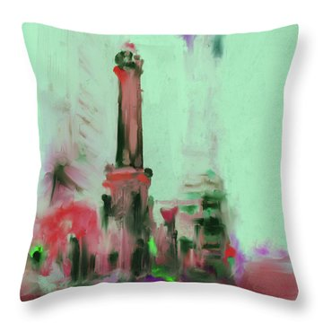 The Chicago Water Tower 535 4 Throw Pillow by Mawra Tahreem