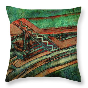 Throw Pillow featuring the digital art The Chief by Greg Sharpe