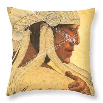 The Chief Train - Vintage Poster Folded Throw Pillow