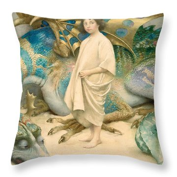 The Child In The World Throw Pillow by Thomas Cooper Gotch