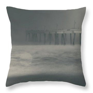 Throw Pillow featuring the photograph The Chill In My Bones by Laurie Search