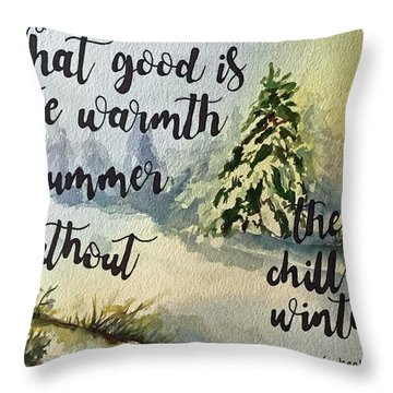 The Chill Of Winter Throw Pillow