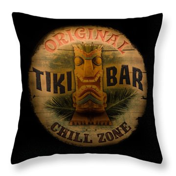 The Chill Zone Throw Pillow by Trish Tritz