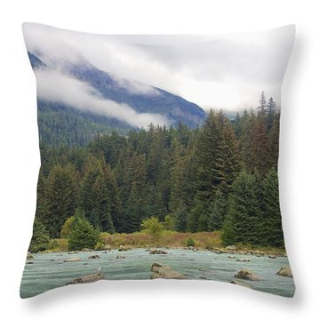 The Chillkoot River 2 Throw Pillow