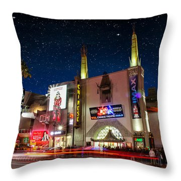 The Chinese Theater 2 Throw Pillow by Robert Hebert