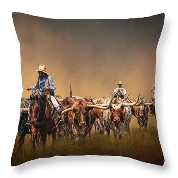 The Chisolm Trail Throw Pillow