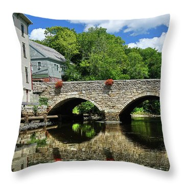 The Choate Bridge Throw Pillow
