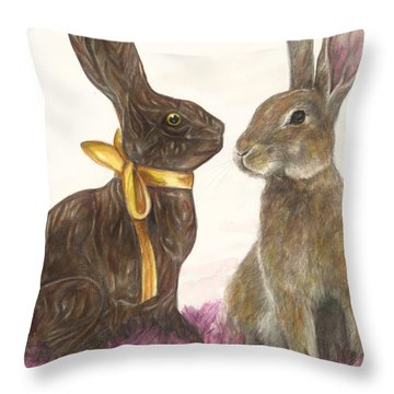 The Chocolate Imposter Throw Pillow by Meagan  Visser