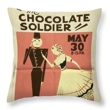 The Chocolate Soldier - Vintage Poster Folded Throw Pillow