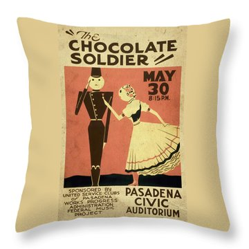 The Chocolate Soldier - Vintage Poster Vintagelized Throw Pillow