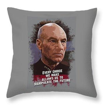 The Choice - Picard Throw Pillow