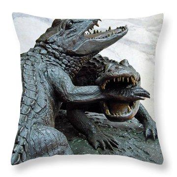 The Chomp Throw Pillow by D Hackett