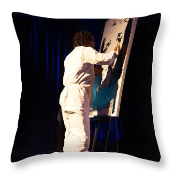 Throw Pillow featuring the photograph The Christ Painter by B Wayne Mullins