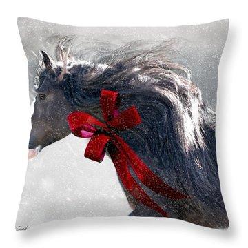 The Christmas Beau Throw Pillow