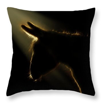 The Christmas Donkey Throw Pillow
